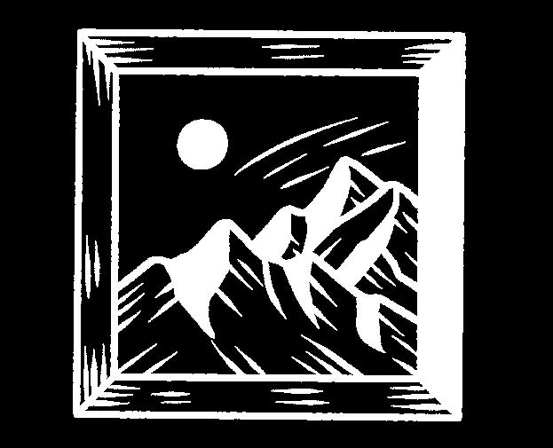 Icon of framed mountain artwork